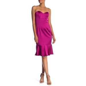 Trina Turk Greer Sweetheart Peplum Hem Dress